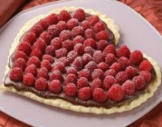 Romantic Class Chili, Chocolate and Raspberry Tart