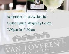 Wine Tasting with Avalanche and Van Loveren